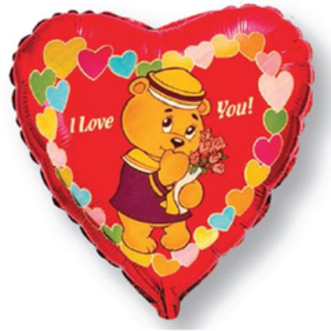 F Сердце Влюбленный мишка-морячок (46 см)