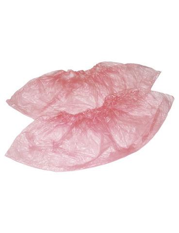 Бахилы полиэтиленовые Розовые 50пар