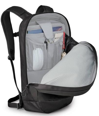 Картинка рюкзак городской Osprey Transporter Panel Loader 20 Black - 3