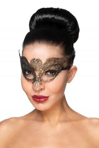 Золотистая карнавальная маска  Поррима