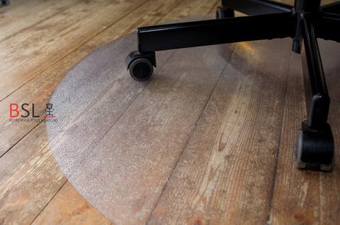 Защитный коврик под кресло D.1000 мм шагрень