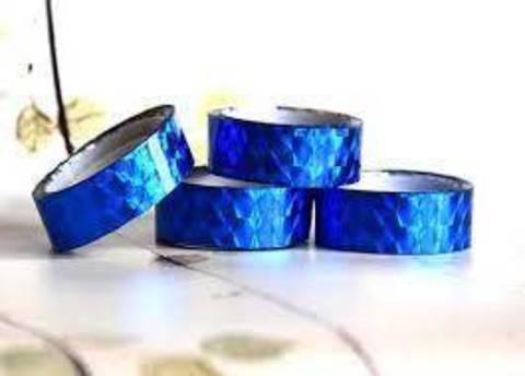 Скотч голографический 12мм* 15м (синий)