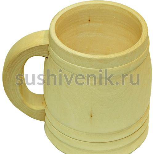Кружка деревянная 0,5 л для холодных напитков