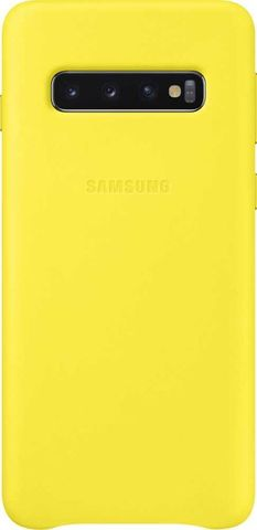 Чехол SAMSUNG Leather Cover для Samsung Galaxy S10 Желтый