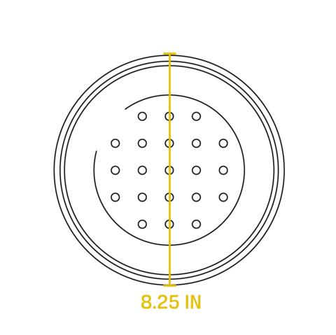 Крышка  чугунная круглая, артикул L5IC3