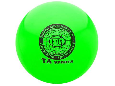 Мяч для художественной гимнастики силикон TA sport. Диаметр 19 см. Цвет зелёный. :(Т8):