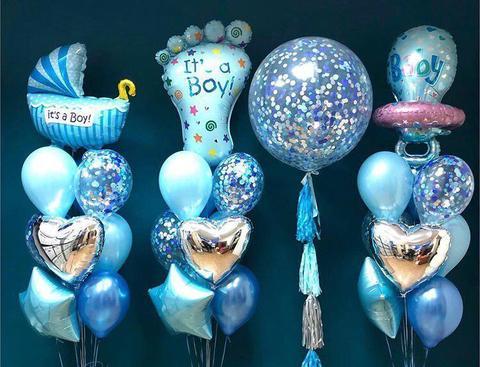 Набор из возудшных шаров на выписку для мальчика №6