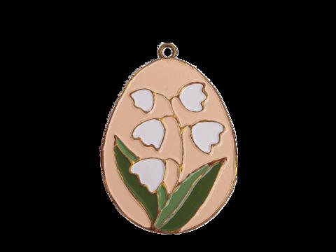 Пасхальное украшение Яйцо с Ландышем, цвет: бежевый