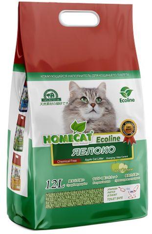 Homecat Eco Line Яблоко Наполнитель для кошачьих туалетов комкующийся с ароматом яблока