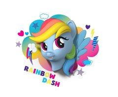 Радуга Дэш 3D-светильник Мой маленький пони
