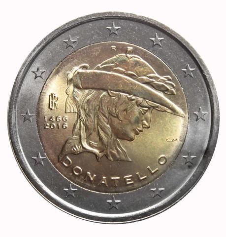 2 евро 2016 Италия - Донателло