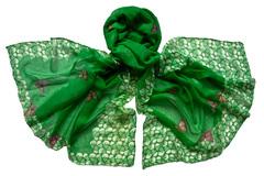 Парео зеленое с принтом 0178