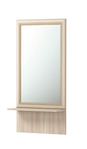 Зеркало настенное Брайтон 21 с полкой Ижмебель ясень асахи