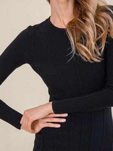 Женское платье черного цвета из шерсти - фото 5