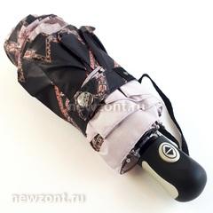 Мини зонтик автомат Три Слона L4700-J в 4 сложения с ромбами