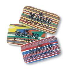 Ластик для графита, пастели, чернил MAGIC большой 6516, ассорти