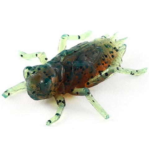 Силиконовая приманка FishUP Dragonfly цвет № 017 - Motor Oil Pepper