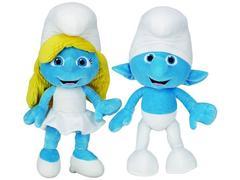 The Smurfs Movie Jumbo Plush Series 01 - Clumsy & Smurfette