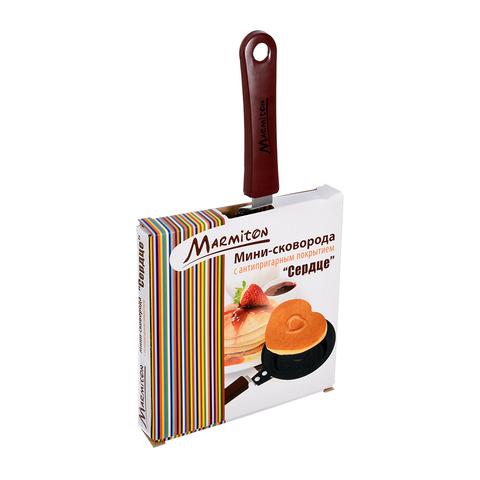 Мини-сковорода «Сердце» с антипригарным покрытием 12х26 см
