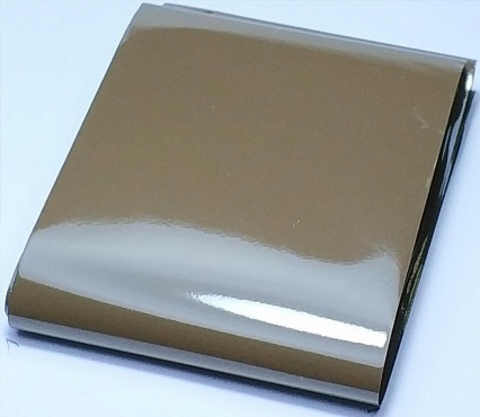 Фольга матовая (коричневый) 1м х 4см 07230116