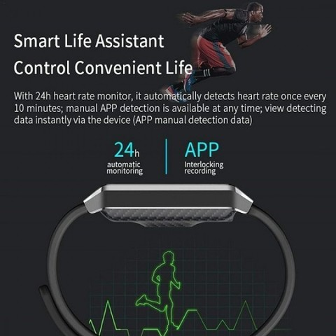 Фитнес-браслет X9 с 1,14-дюймовым цветным TFT-дисплеем c сердечным ритмам, артериальным давлением