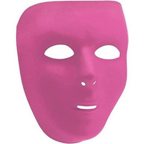 Маска пластик розовая/А
