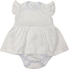 Папитто. Боди-платье Ажур, белый вид 1