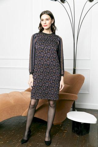 Фото платье-футляр прямого силуэта с контрастными вставками - Платье З477-020 (1)