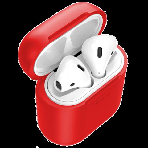 Baseus / Чехол с беспроводной зарядкой для Airpods | красный
