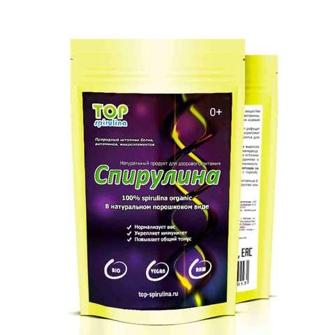 Спирулина 100% organic в порошке, пакет 100 / 250 / 500 г