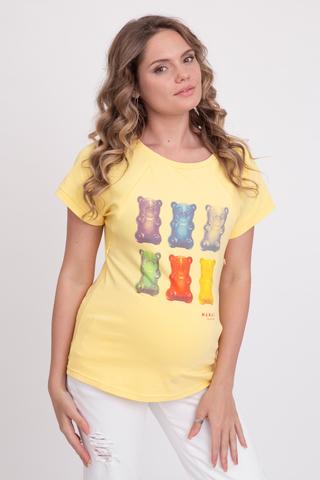 Футболка для беременных и кормящих 10757 желтый