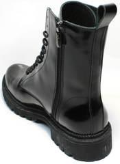 Ботинки типа мартинсов черные женские зимние Ari Andano 740 All Black.