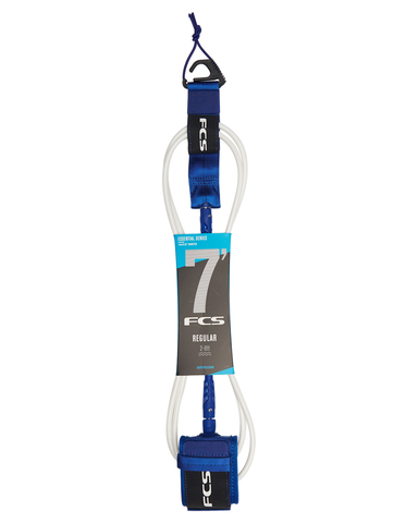 FCS 7' Regular Essential Leash Cobalt