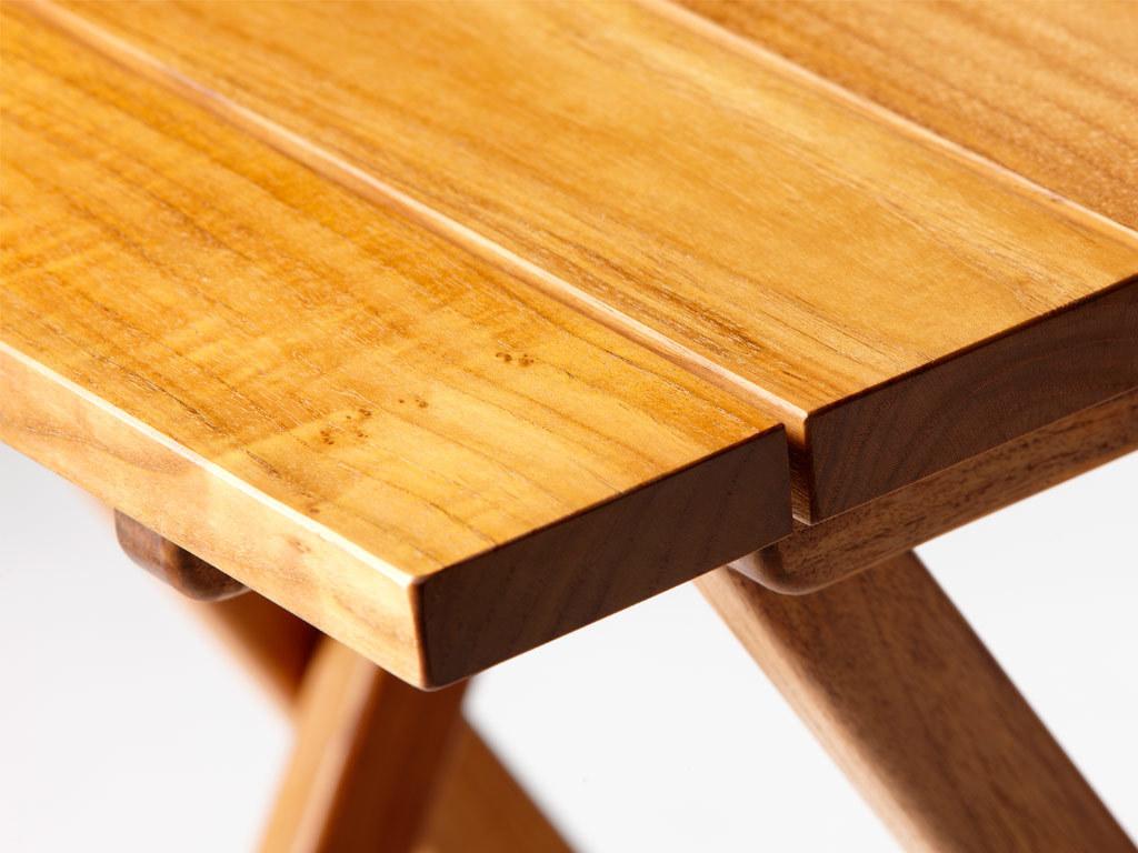 RECTANGULAR FOLDING TABLE TEAK 120X60 CM