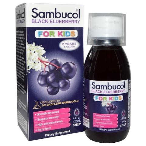 Sambucol, Чёрная бузина, Поддержка иммунной системы, для детей, сироп, 120 мл
