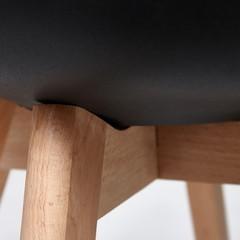 Стул Secret De Maison TULIP (mod. 73) дерево/пластик/ПУ, черный