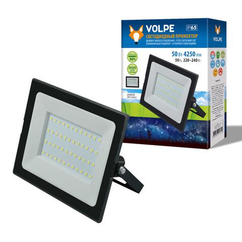 ULF-Q513 50W/6500K IP65 220-240В BLACK Прожектор светодиодный. Дневной свет(6500К). Корпус черный. TM Volpe.