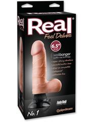 Вибромассажер реалистик на присоске Real Feel Deluxe 6.5 No. 1 водонепронецаемый