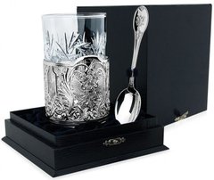 Серебряный набор для чая «Единство» литой из 3 предметов