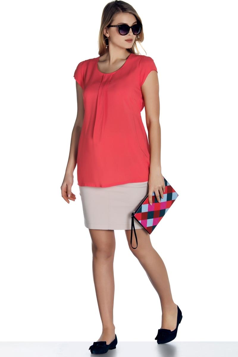 Блузка для беременных 01397 красный
