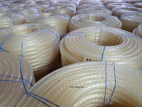 Шланг Ø 18мм армированный прозрачный силиконовый толщина стенки 3 мм (25 м в бухте)