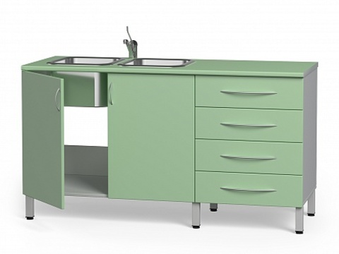 Комплект медицинской мебели БТ-24+БТ-02/4-140 - фото