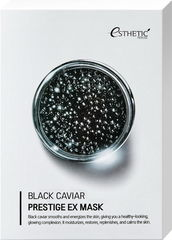 Тканевая маска для лица ЧЕРНАЯ ИКРА Black Caviar Prestige EX Mask, 25 мл* 5шт ESTHETIC HOUSE