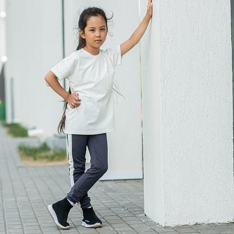 T-shirt with pocket for teens - Heavy Cream