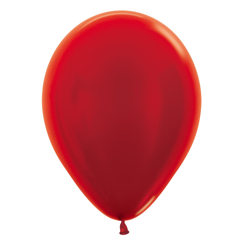 Латексный воздушный шар, цвет красный металлик