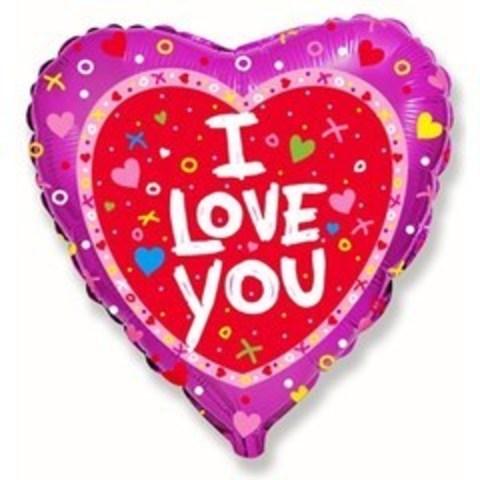 F Сердце Я тебя люблю, Сердечки и крестики, 18