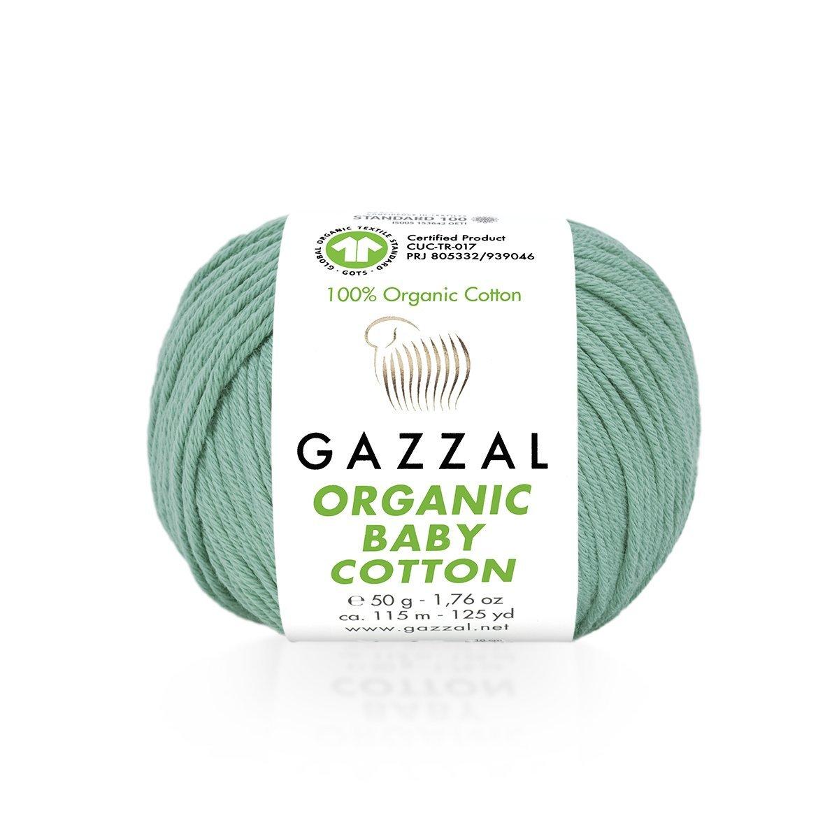 Пряжа Gazzal Organic Baby Cotton 422 лазурь