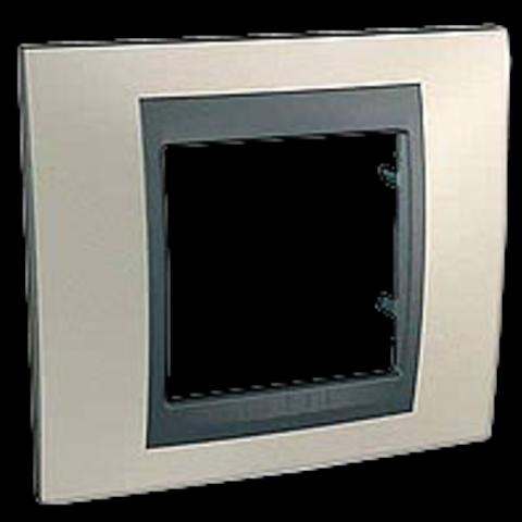 Рамка на 1 пост. Цвет Опал-графит. Schneider electric Unica Top. MGU66.002.295