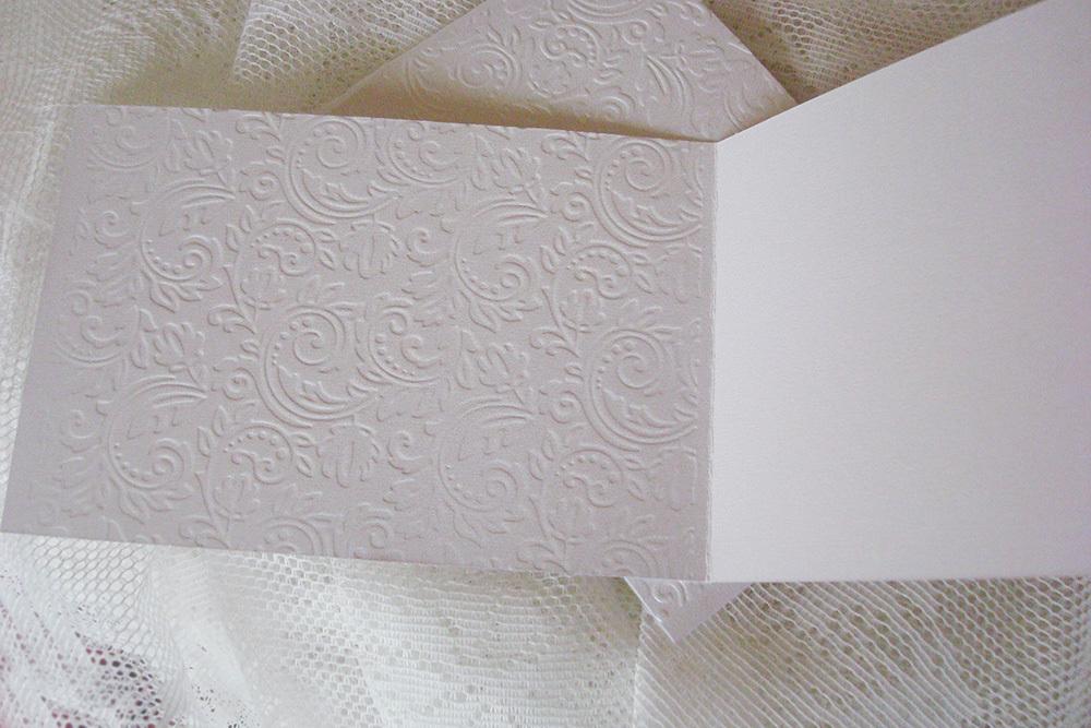 Заготовка для открытки «Узоры» 10х15 см, белый перламутр