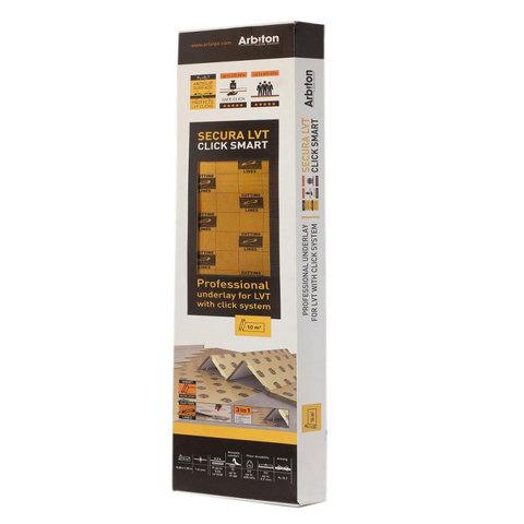 Подложка Arbiton Secura LVT Click Smart 1,5 мм (под виниловый замковой ламинат) (6,25 кв.м/упак.)
